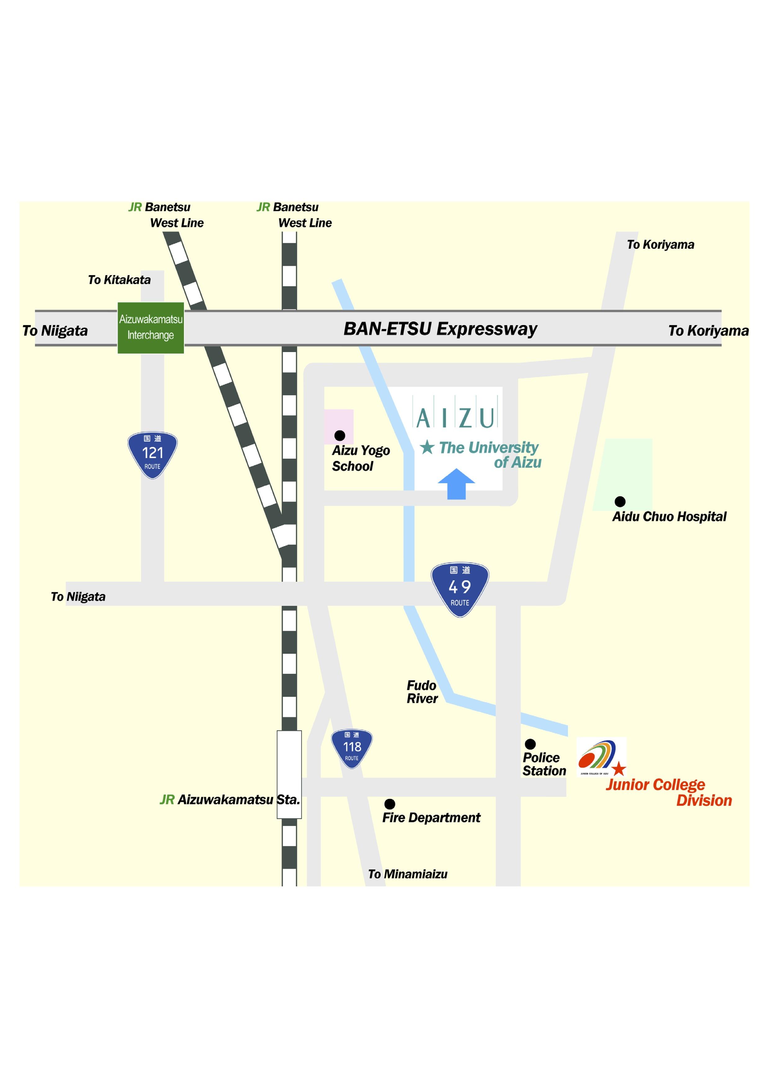 会津大学アクセスマプ
